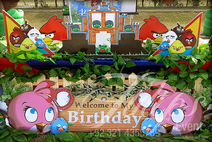 Angry birds themed birthday party ideas planner in lahore for Angry bird decoration ideas