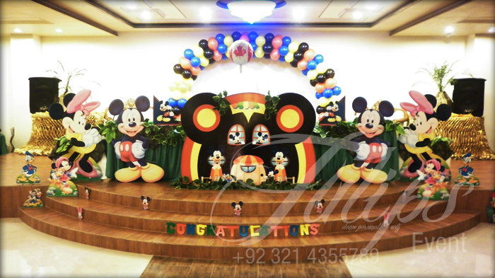 Best Mickey Mouse Club House Themed Birthday Balloons Decoration