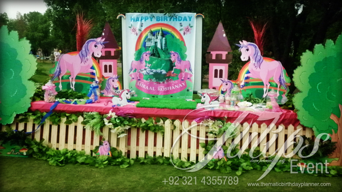 Enchanted Unicorn Themed Birthday Party Decoration Planner
