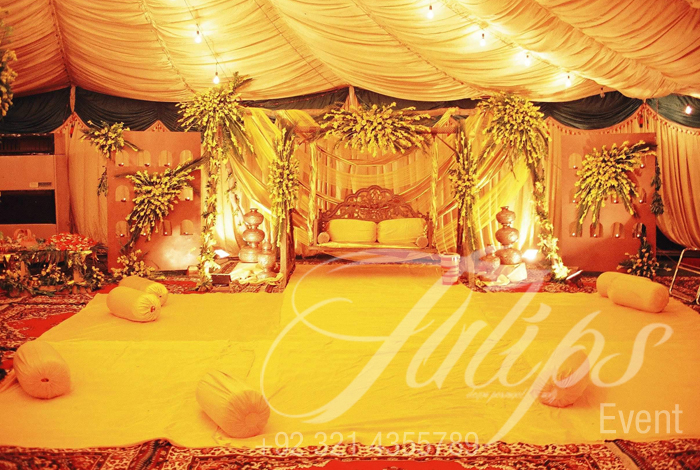 Mehndi And Mayon Decoration : Tulips event best pakistani wedding stage decoration flowering for