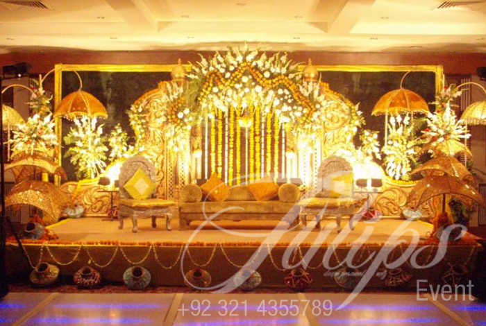 Tulips event best pakistani wedding stage decoration flowering for wedding stage decoration art mehendi stage design set 03 mehendi junglespirit Gallery