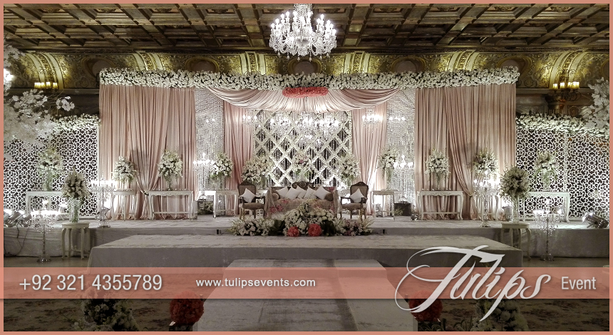 Tulips event best pakistani wedding stage decoration flowering pakistani wedding stage design junglespirit Images