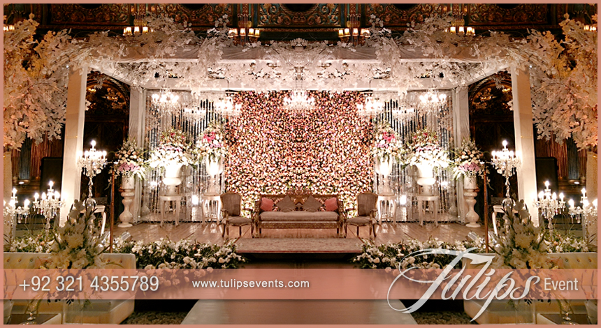 Tulips event best pakistani wedding stage decoration flowering for pakistani wedding stage design junglespirit