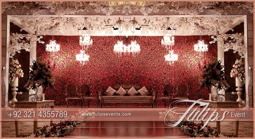 Tulips event best pakistani wedding stage decoration flowering pakistani wedding stage design junglespirit Image collections