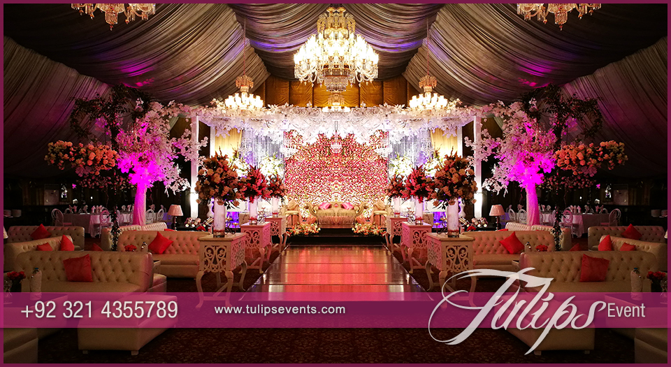 Tulips Event Best Pakistani Wedding Stage Decoration Flowering For