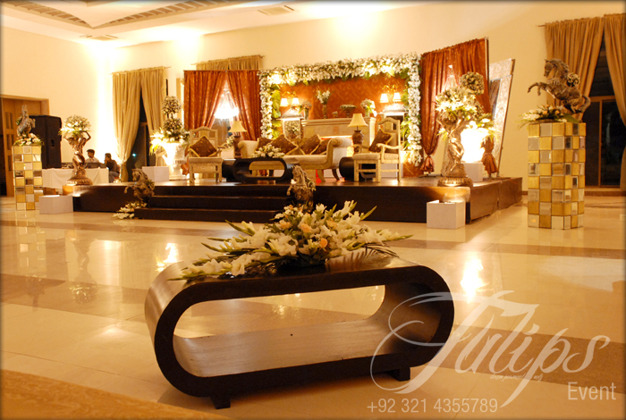 Tulips event best themed wedding planner flower stage for Home decorations pakistan