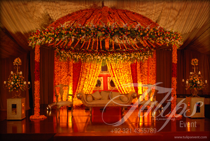 New Mehndi Decoration : Tulips event best pakistani wedding stage decoration flowering for