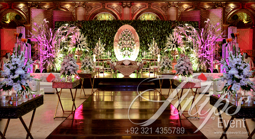 Tulips Event Best Wedding Planner Walima Stage Flowering Walima Setups In Lahore Pakistan