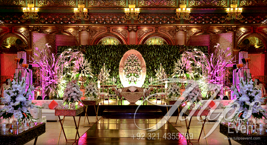 Tulips Event Best Wedding Planner Walima Stage Flowering Walima