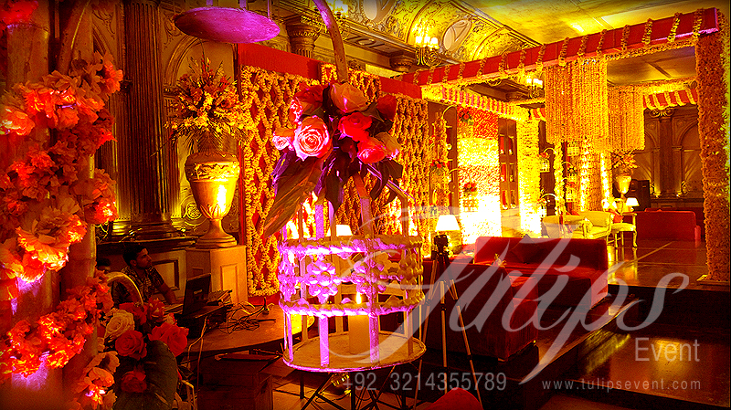Mehndi Party Planning : Tulips event best mehndi planner stage