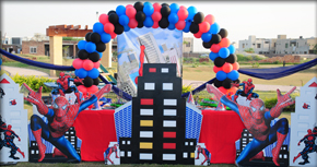 Tulips Event Spiderman Birthday Party Theme Supplies Decoration Planner In La Stan