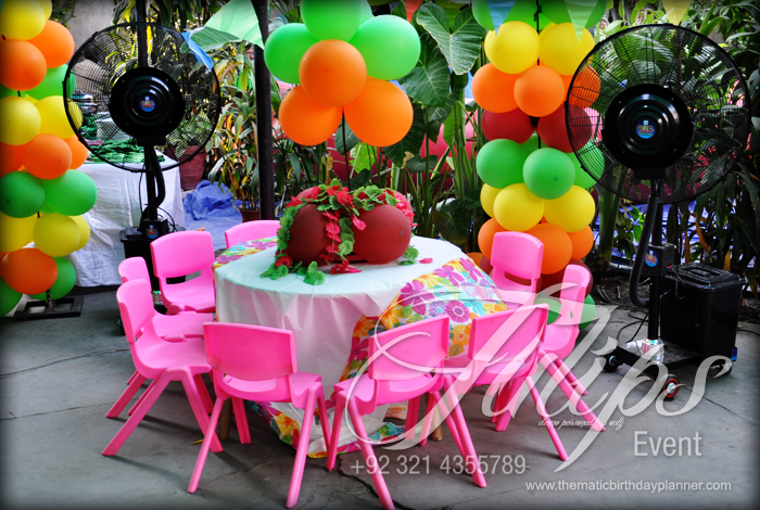 Hawaiian with Luau Themed Birthday Party Decoration Planner