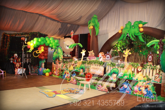 Tulips Event Best Jungle Safari Birthday Party Theme